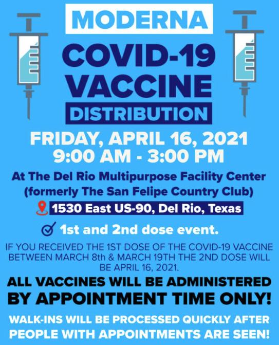 Vacunación en Del Rio.