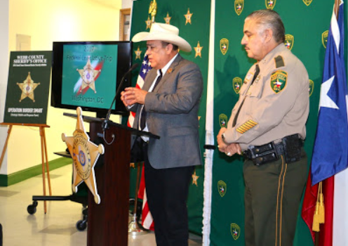 Sheriff Schmerber on hand to support Webb County Sheriff's initiative