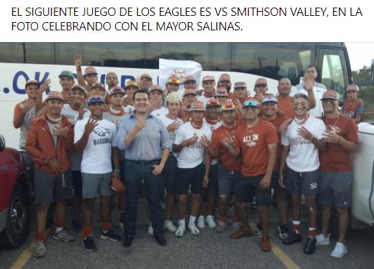 Jueves primer juego de los Eagles en el San Antonio North Side Field #2 a las 7:00 pm.