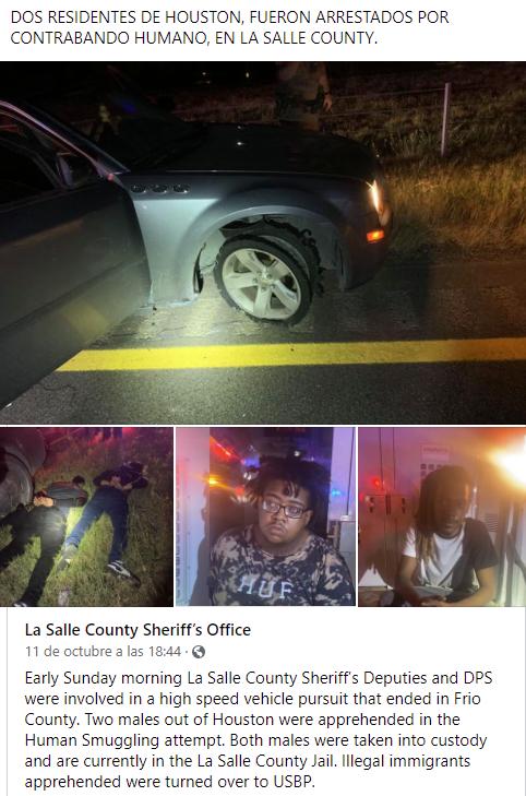 Dos de Houston arrestados por contrabando humano.