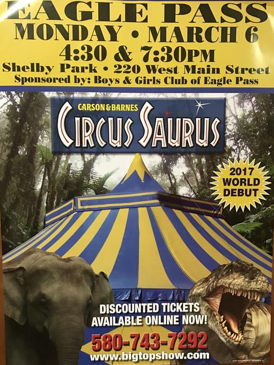 Compre sus boletos para el Circo Saurus ahora