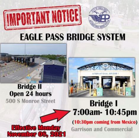 Nuevo horario en el puente internacional #1