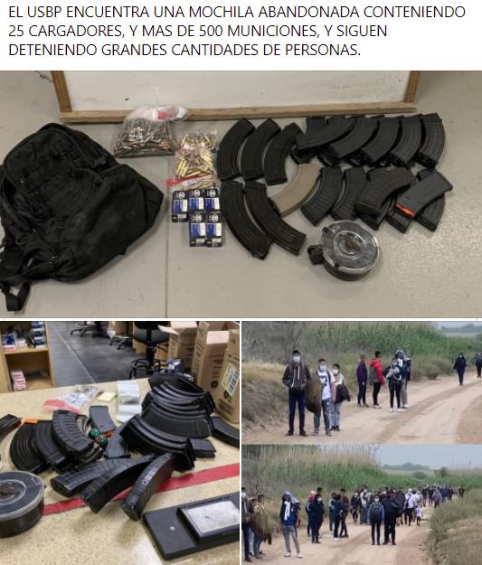 El USBP confisca municiones y detiene mas gente.