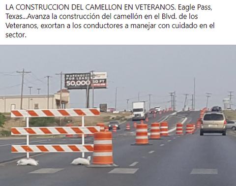 Avanza la construcción del camellón en Veteranos.