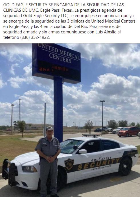 Gold Eagle Security, ya se encarga de la seguridad de UMC
