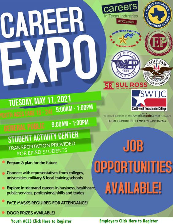 Career Expo, para el 11 de Mayo.