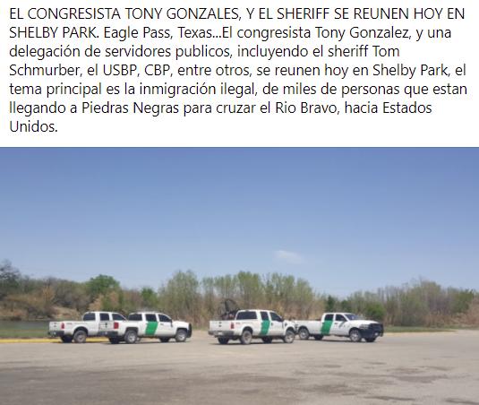 Reunión hoy en Shelby Park con las agencias federales, y estatales.