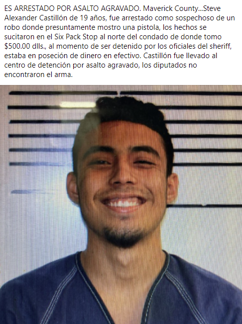 Arrestado por asalto agravado.