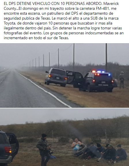 El DPS detiene vehiculo con 10 personas.