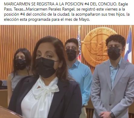 Maricarmen es candidata al concilio de la ciudad.