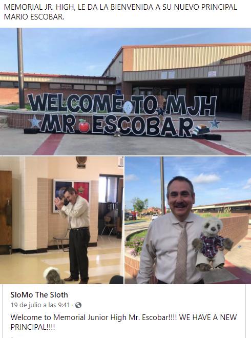 El profesor Escobar es el nuevo director de Memorial Jr. High!