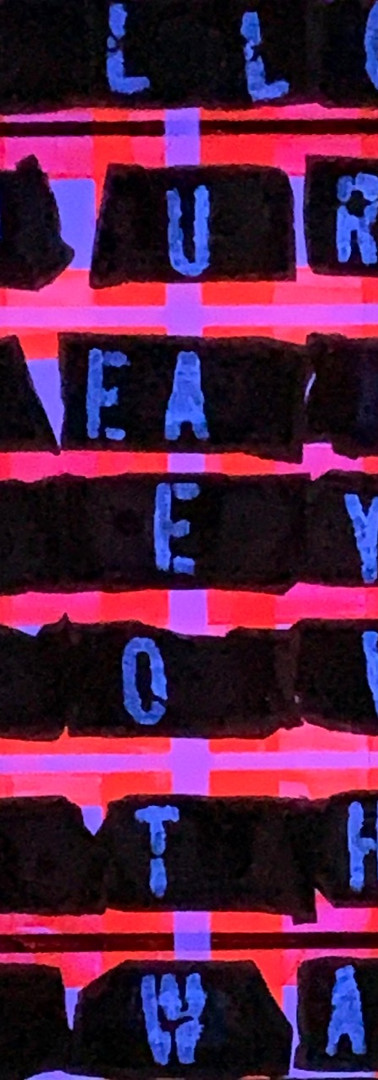 DREAMS (red&fuxia fluo) FOLLOW YOUR DREAMS THEY KNOW THE WAY
