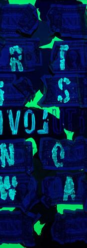 REVOLUTION (mimetico)  ART IS LOVE NOTE WAR