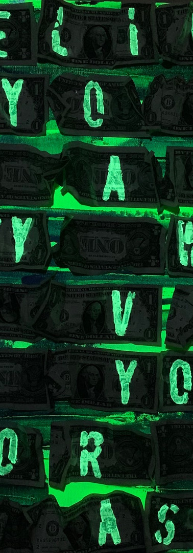 DREAMS (green&blue metallic) BELIVE IN YOUR DREAMS THEY WERE GIVEN TO YOU FOR A REASON