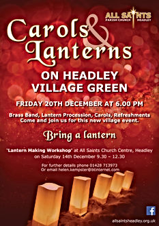 Carols & Lanterns on Headley Village Gre