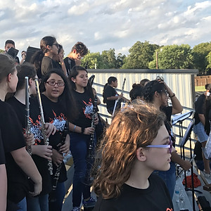 Middle School Band at Football Game-10-10-2019