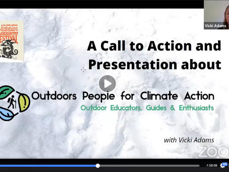Outdoors People for Climate Action Presents at Victorian Backcountry Festival
