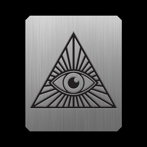 Pirámide. Placa metálica