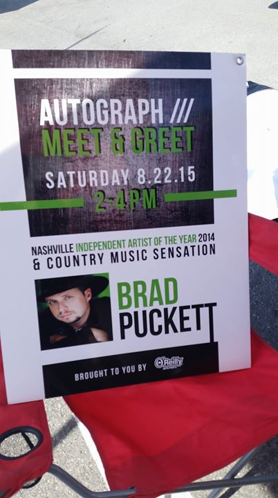 Facebook - Honored to be part of O'Reilly Auto Parts meet and greet at Bristol Motor Speedway