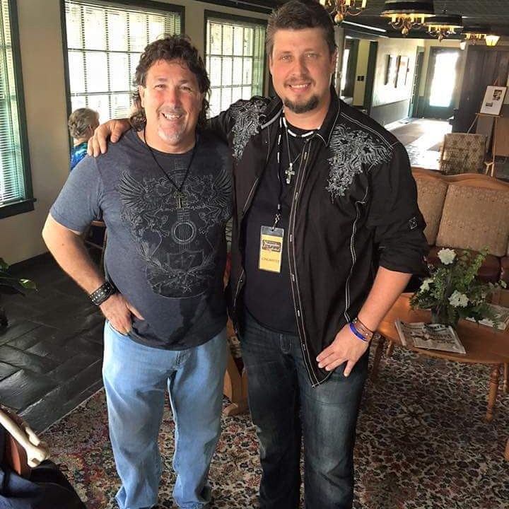 Me and John Condrone at the Smokey Mountain Songwriters Festival # john Condrone