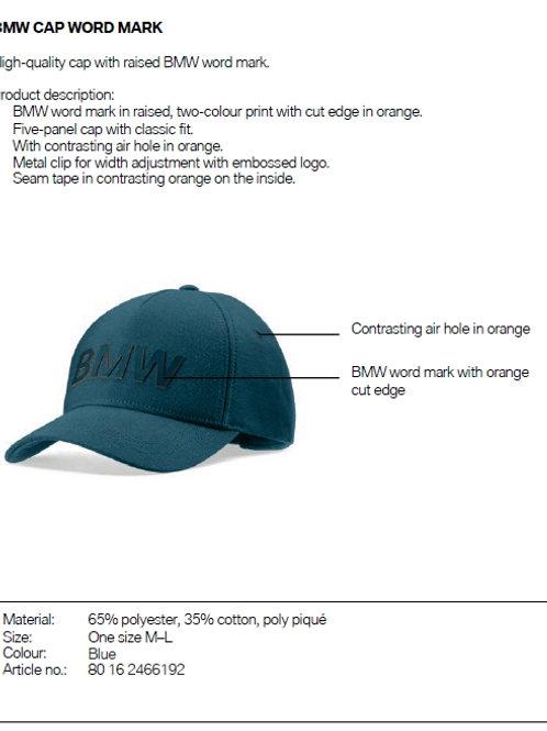 BMW Cap word mark