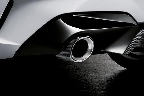 Set tailpipe trim Carbon
