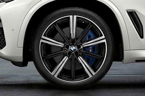 """Wheel set  749 M 22"""" Black/Silver"""