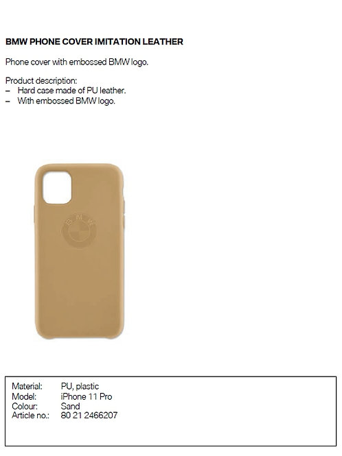 BMW Phone cover imitation laether