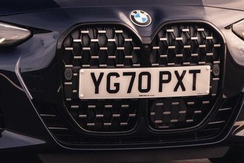 Front ornamental grille black