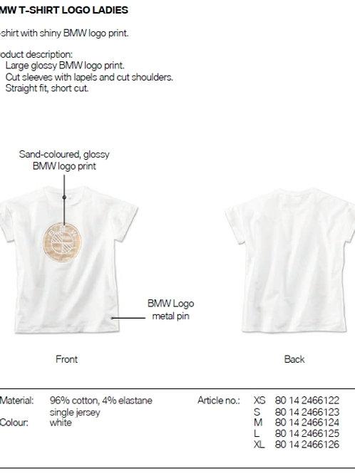 T-shirt with shiny BMW logo print Ladies