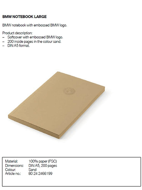 BMW Notebook Large