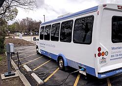 EVS Mini-Bus at charging station