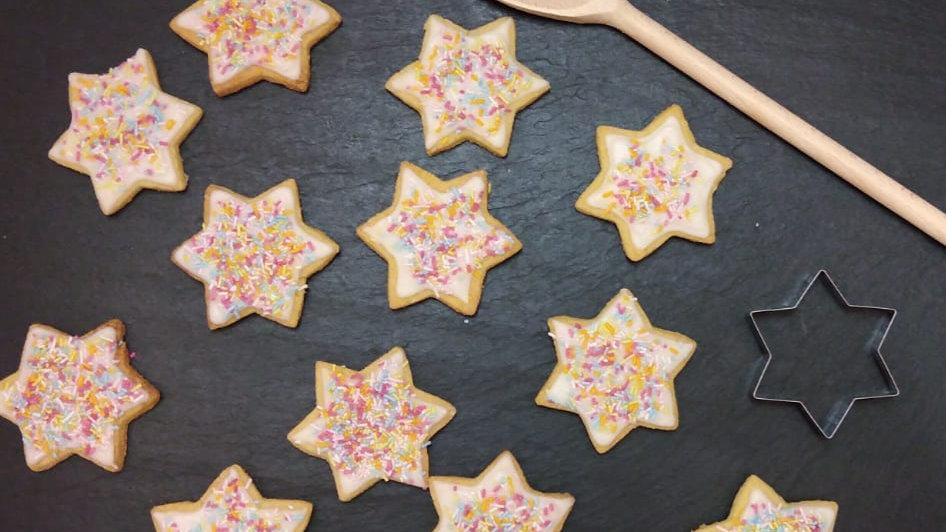 Sprinkle star biscuits