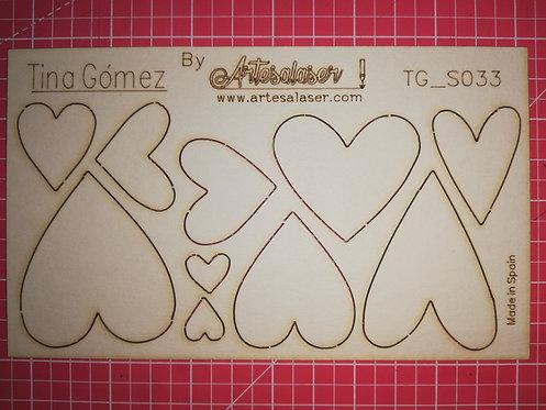 Kit 10 corazones