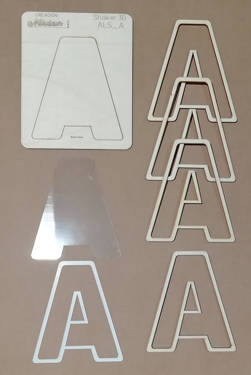Abecedario Shaker 3D