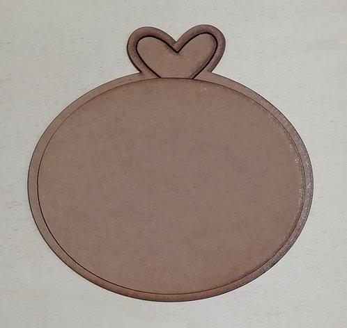 Placa Pequeña Corazón