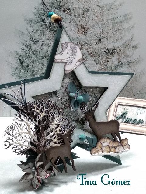 Estrella + Árbol y Ciervos