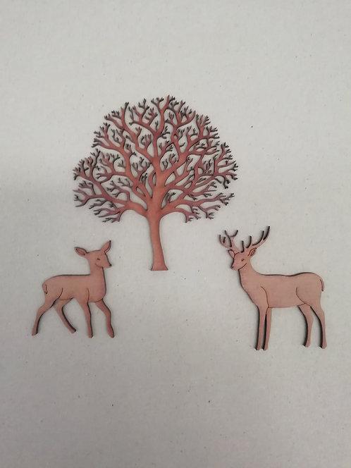 Árbol y Ciervos