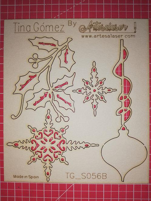 Kit 4 adornos navidad