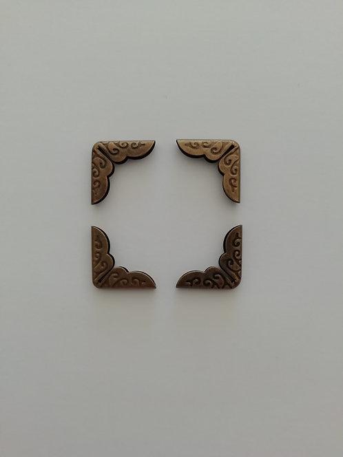 4 esquineras bronce