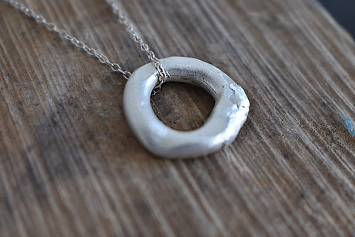 Silver Donut Pendant