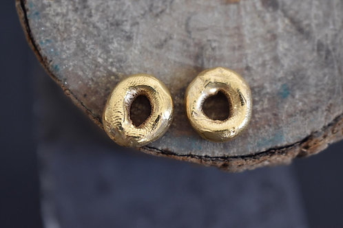 Gold Plated Donut Studs