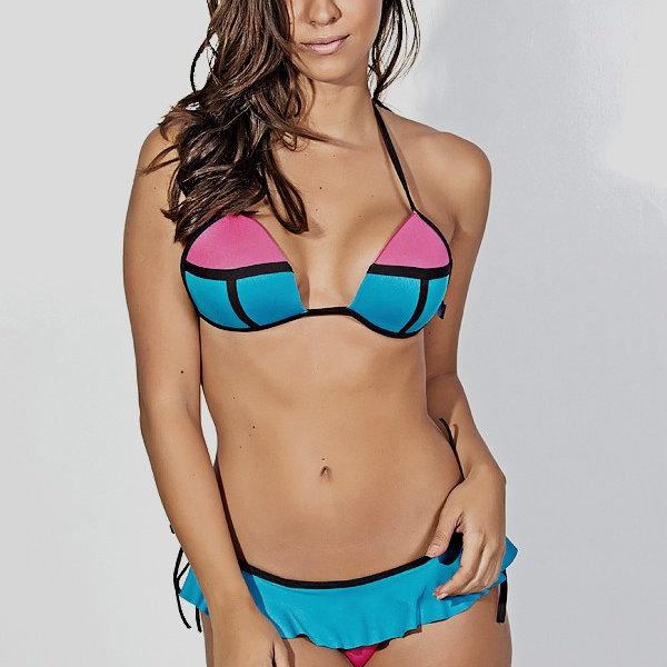 a0b7b29f89e2 Bikini 3D con falda