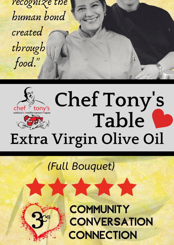 Chef Tony's Table EVOO Olive Oil Label
