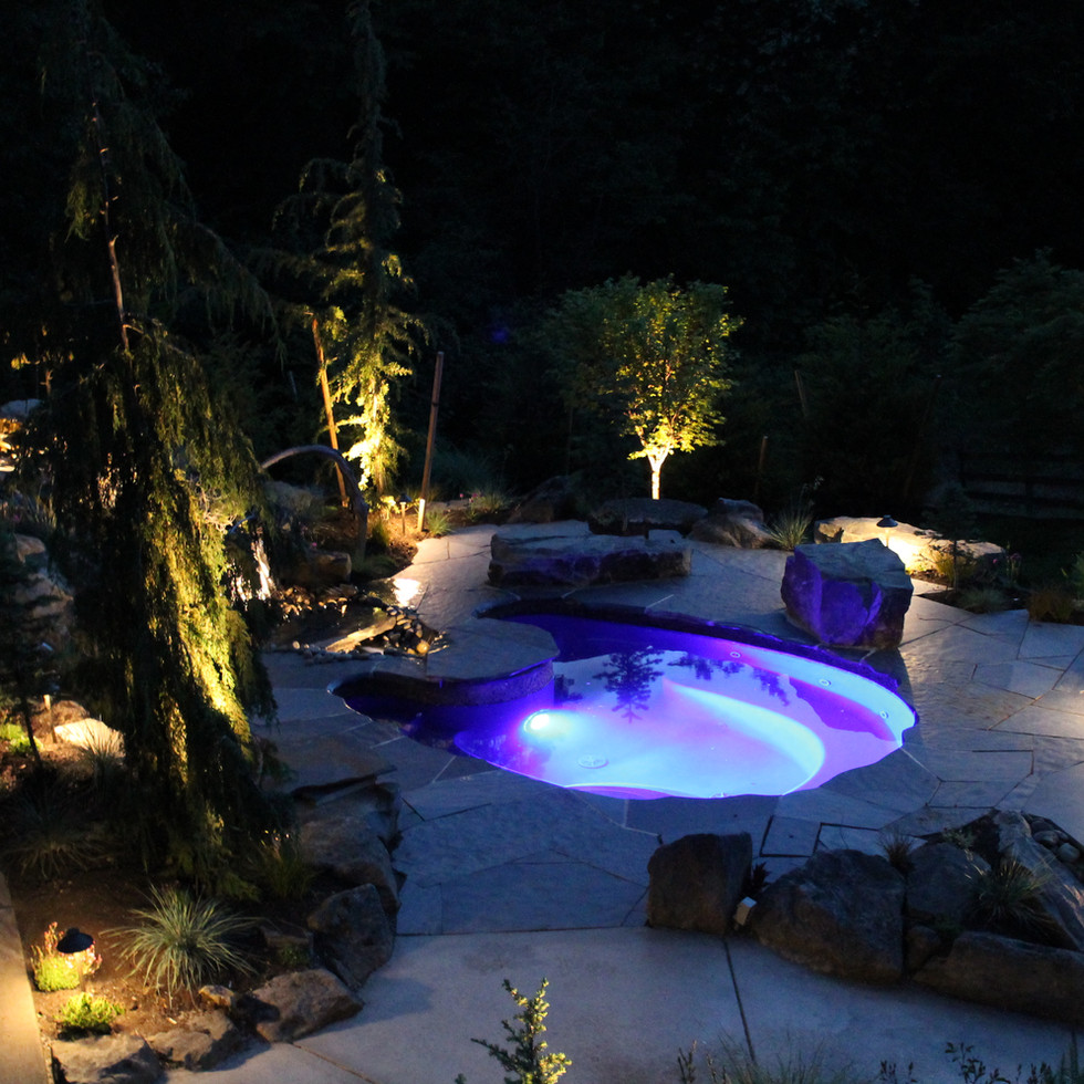 Lighting, With Landscaping and Hot Tub 2