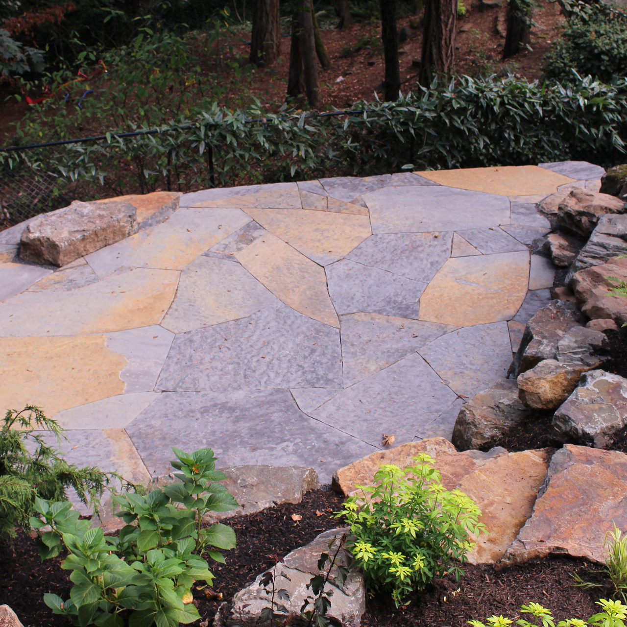 Patio, Flagstone With Slab Steps.JPG