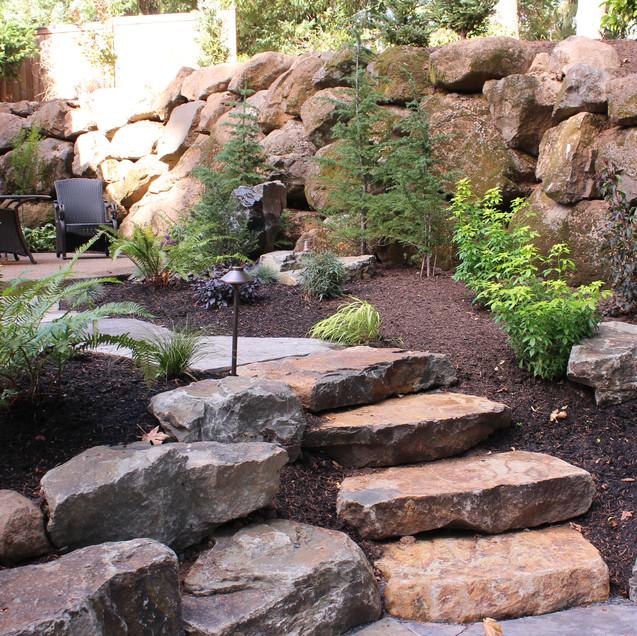 Steps, Slab With Boulder Wall .JPG