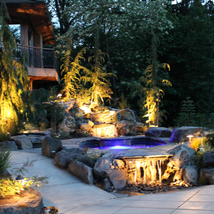 Lighting, With Landscaping and Hot Tub.J