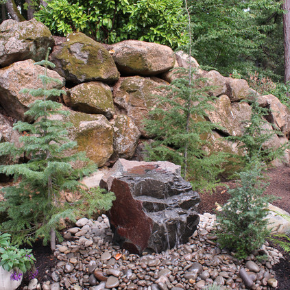 Water Feature, With Firs.JPG