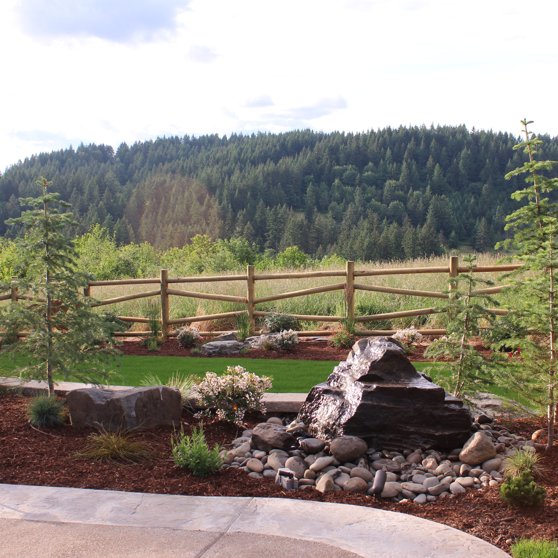 Water Feature,With Landscaping.JPG